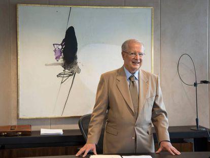 O embaixador Sergio Amaral no seu gabinete.
