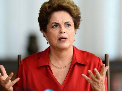 Dilma no Palácio da Alvorada em 18 de agosto.