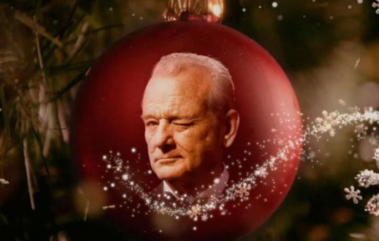 Imagem do vídeo promocional do especial natalino estrelado por Bill Murray.