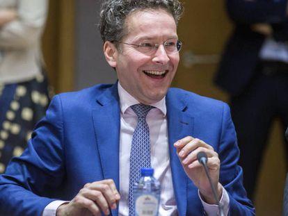 Dijsselbloem, durante o Eurogrupo nesta segunda-feira.