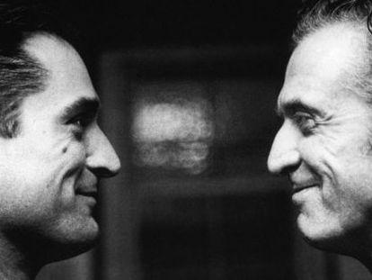 O ator junto com o seu pai, Robert De Niro Sr.