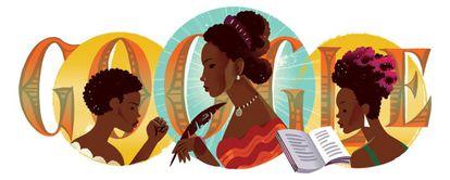 Uma ilustração da escritora abolicionista Maria Firmina dos Reis.