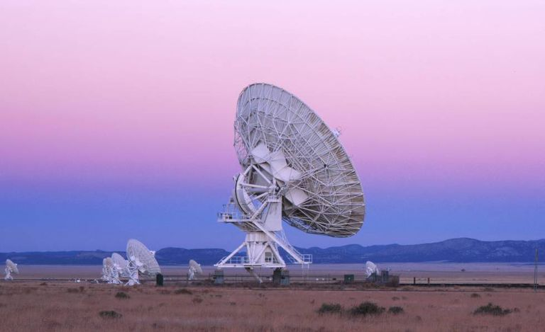 As antenas do Very Large Array (VLA), nos EUA.