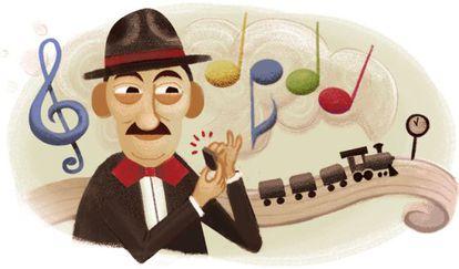 Homenagem do Google a Adoniran Barbosa.