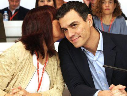 Pedro Sánchez, durante a reunião do Comitê federal.