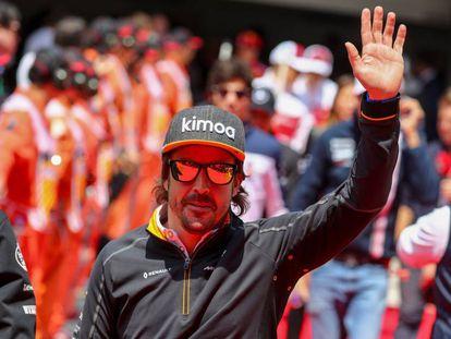Fernando Alonso, durante o GP da China, em abril.