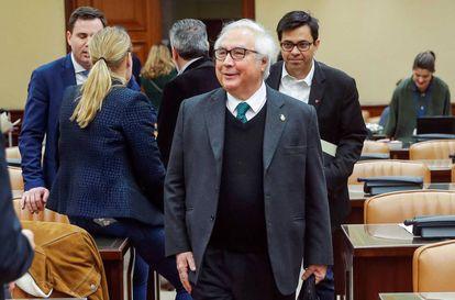 O ministro de Universidades, Manuel Castells, nesta sexta-feira no Congresso.
