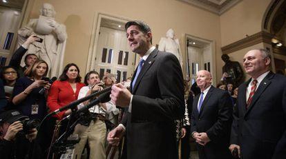 O líder republicano da Câmera de Representantes, Paul Ryan, nesta terça-feira.