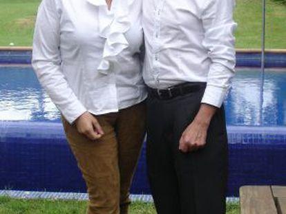 Ingrid Sartiau e Albert Solá, que dizem ser filhos de Juan Carlos.