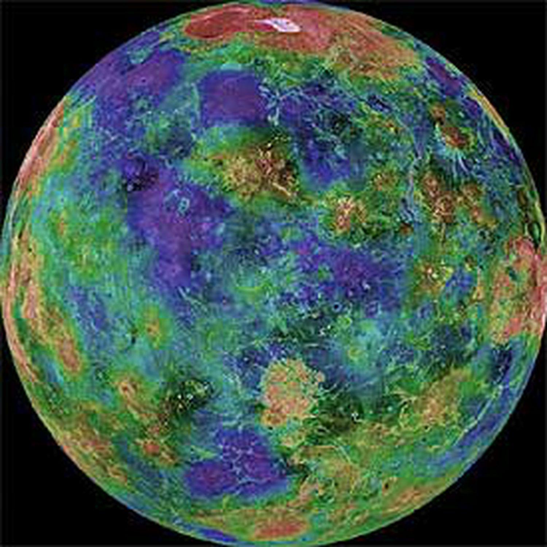 Imagem de Vênus feita pela missão 'Magellan', em 1998.