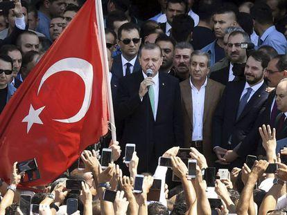O presidente turco, Recep Tayyip Erdogan, no dia 22 de julho em Ancara.