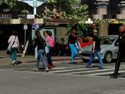 Uma rua de Montevidéu.