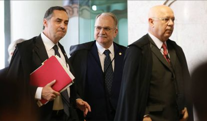 Barroso, Fachin e Zavascki, do STF.