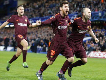 Messi, com um passe de Iniesta, quebrou o jejum contra o Chelsea em Londres.