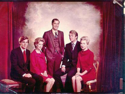 Foto sem data dos irmãos Trump: a partir da esquerda, Robert, Elizabeth, Fred, Donald e Maryanne.