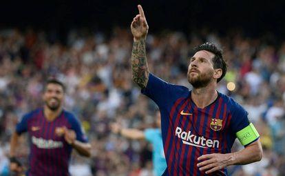 Messi marcou o primeiro gol desta edição de Champions League.