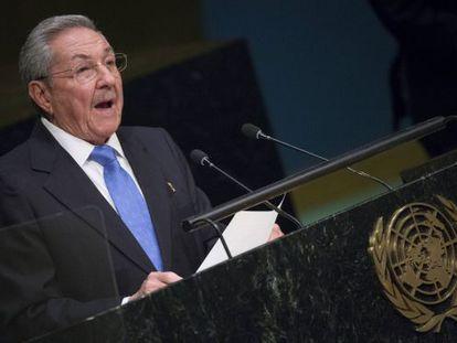Raúl Castro, durante seu discurso nas Nações Unidas.