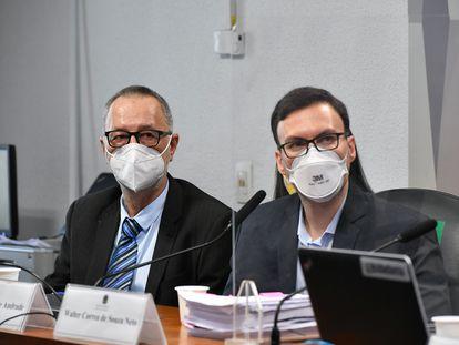 Beneficiário da Prevent Senior Tadeu Frederico Andrade e o médico Walter Correa de Souza Netto depõem na CPI da Pandemia, nesta quinta-feira.