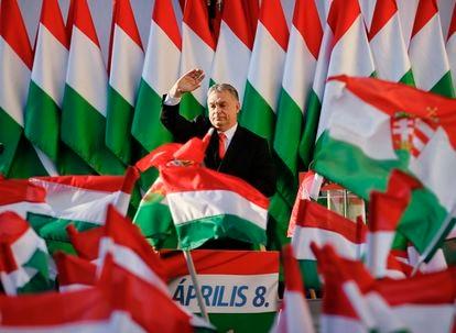 O primeiro-ministro Húngaro Viktor Orbán, em abril de 2018.