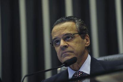 O presidente da Câmara e candidato a governador,  Eduardo Alves.