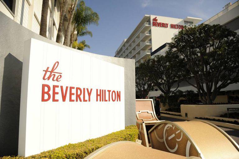 Hotel The Beverly Hilton, onde acontece a 75ª edição do Globo de Ouro.