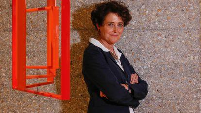 A geneticista Edith Heard, diretora do Laboratório Europeu de Biologia Molecular, em um hotel de Madri antes da entrevista.