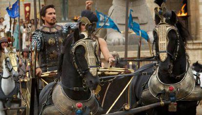 Christian Bale, em uma imagem dos filmes 'Êxodo: deuses e reis'.