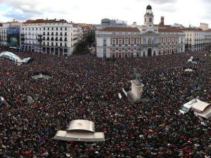 Panorâmica da Puerta del Sol, ao final da marcha.