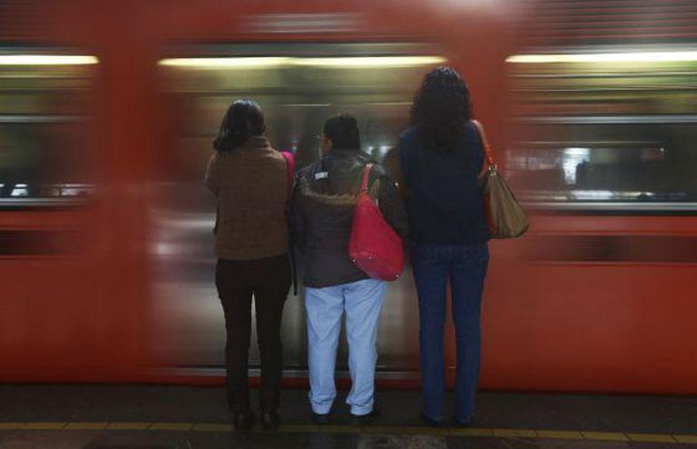 Passageiras do metro da Cidade do México.