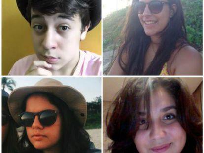 No sentido horário: João Vitor, Luiza, Isabela e Giulia.