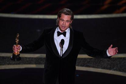 Brad Pitt, vencedor do Oscar de melhor ator coadjuvante.