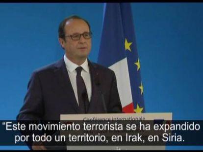 """Hollande pede """"compromissos claros"""" na reunião de Paris contra o EI"""