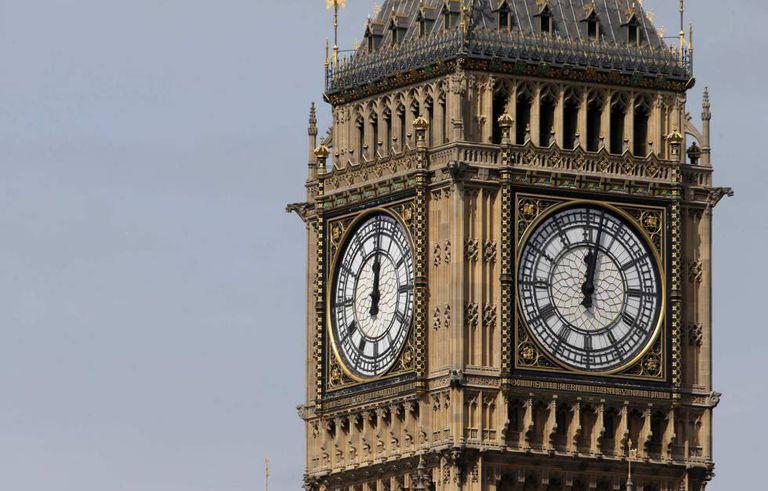 O Big Ben de Londres, hoje, 14 de agosto de 2017.