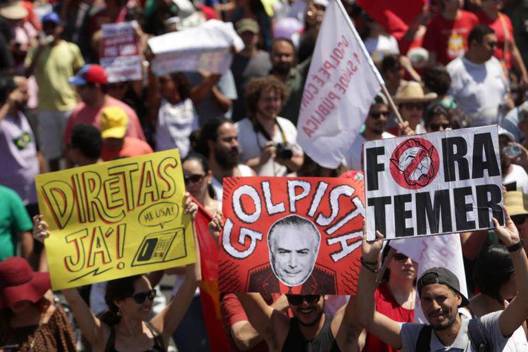 Protesto em Brasília, neste 7 de setembro.