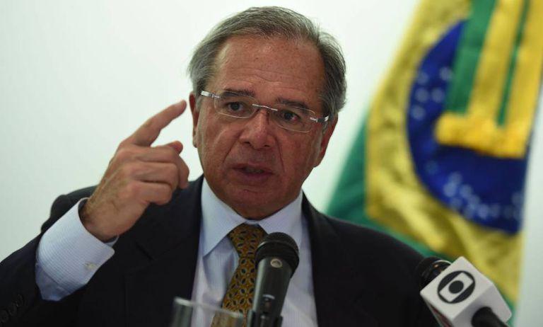 Paulo Guedes, ministro da Economia, nesta segunda-feira em Washington.