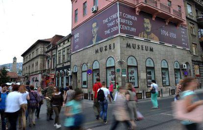 Esquina de Sarajevo na qual Gavrilo Princip disparou contra o arquiduque.