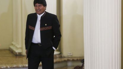 Morales, no palácio de Governo de La Paz.