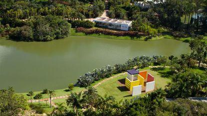 Vista aérea do museu Inhotim.