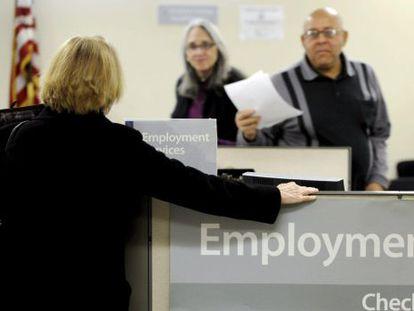 Agência de empregos nos Estados Unidos.
