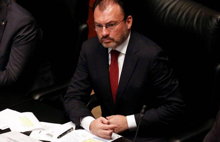 Luis Videgaray, no Senado.