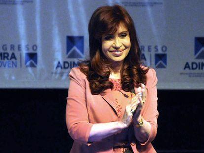 Cristina Kirchner em um ato na semana passada.