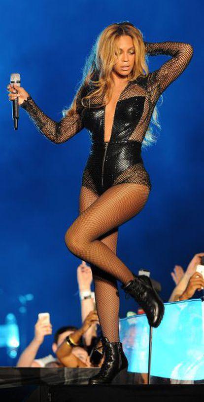A cantora Beyoncé, atuando em Miami na passada quarta-feira.