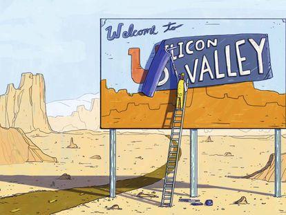 """""""O sonho acabou"""" (""""The dream is over""""), diz o especialista em tecnologia Rob Enderle sobre Silicon Valley."""