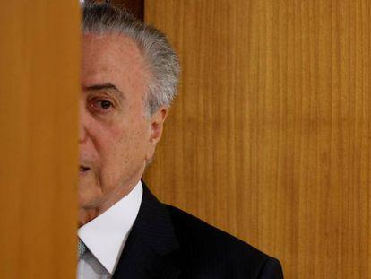 O presidente Temer no Palácio do Planalto.