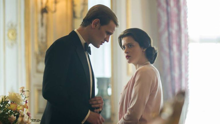 Matt Smith e Claire Foy, em 'The Crown'.