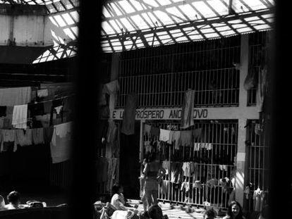 Penitenciária feminina em São Paulo.