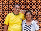O diácono permanente Afonso Brito, e sua esposa, Socorro Oliveira, em Manem-vos.