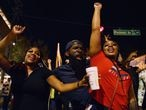 People celebrate after media announced that Democratic U.S. presidential nominee Joe Biden has won the 2020 U.S. presidential election, at Atlanta, Georgia, U.S., November 7, 2020. REUTERS/Brandon Bell