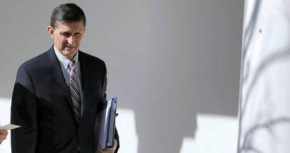 Michael Flynn antes de ser destituído de seu cargo na Casa Branca