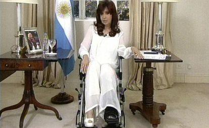 Cristina Kirchner, durante pronunciamento.
